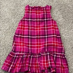 Beautiful toddler girls pink plaid dress
